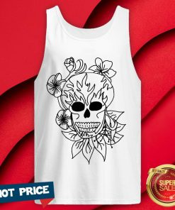 Nice Sugar Skull Plain Tank Top