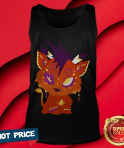 Red XIII Aka Nanaki - Final Fantasy VII Day Of The Dead Dia De Muertos Tank Top