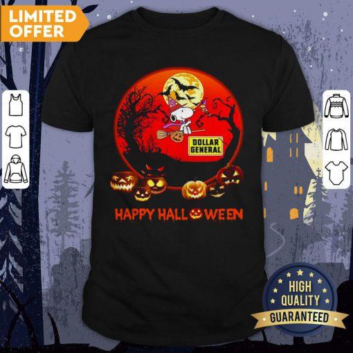 Snoopy Dollar General Pumpkin Happy Halloween Moon Shirt