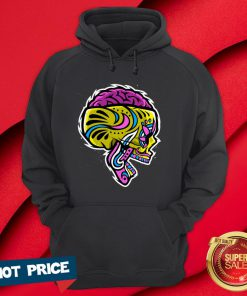 Sugar Crazy Skull Color Day Of Dead Dia De Los Muertos Hoodie