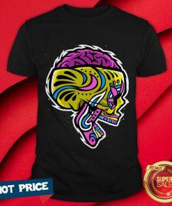 Sugar Crazy Skull Color Day Of Dead Dia De Los Muertos Shirt