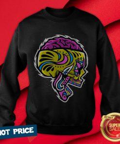 Sugar Crazy Skull Color Day Of Dead Dia De Los Muertos Sweatshirt
