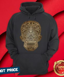 Vintage Aged And Scratched Sugar Skull Day Of The Dead Hoodie