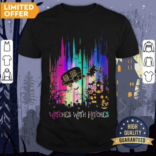 Witches With Hitches Colorful Halloween Shirt