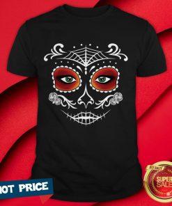 Day Of The Dead Mask Sugar Skull Halloween Shirt