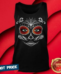 Day Of The Dead Mask Sugar Skull Halloween Tank Top