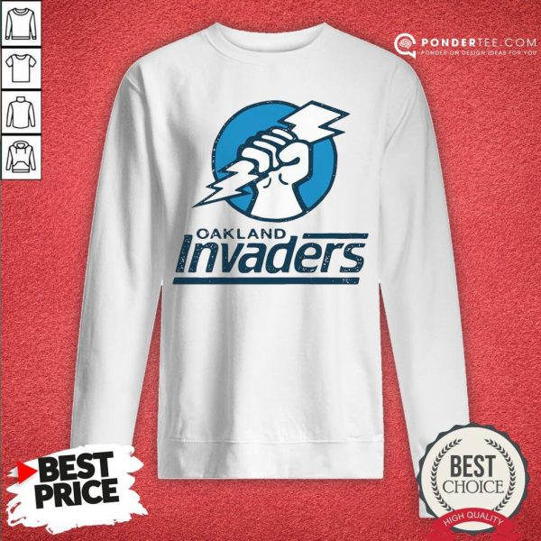 Funny Oakland Invaders Football Hoodie - Desisn By Reallovetees.com