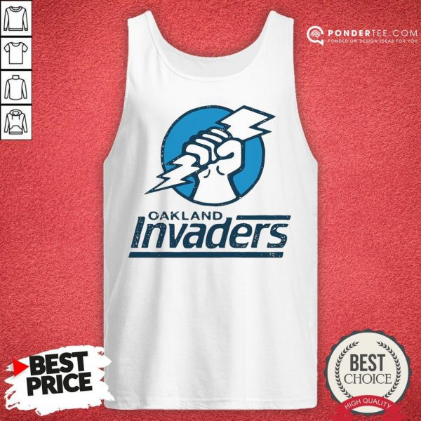 Funny Oakland Invaders Football Tank Top - Desisn By Reallovetees.com