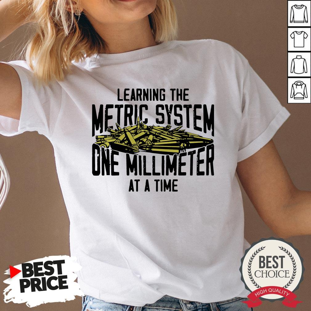 Learning The Metric System One Millimeter At A Time V-neck - Desisn By Reallovetees.com