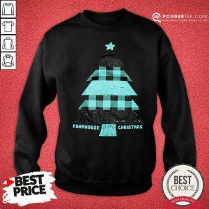 Mint Farmhouse Christmas Raglan Sweatshirt - Desisn By Reallovetees.com