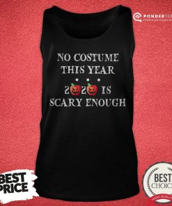 No Costume This Year 2020 Is Scary Enough Apple Halloween Tank Top - Desisn By Reallovetees.com