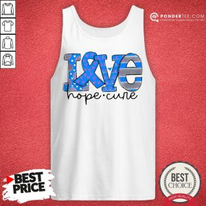 Official Love Hope Cure Tank Top - Desisn By Reallovetees.com