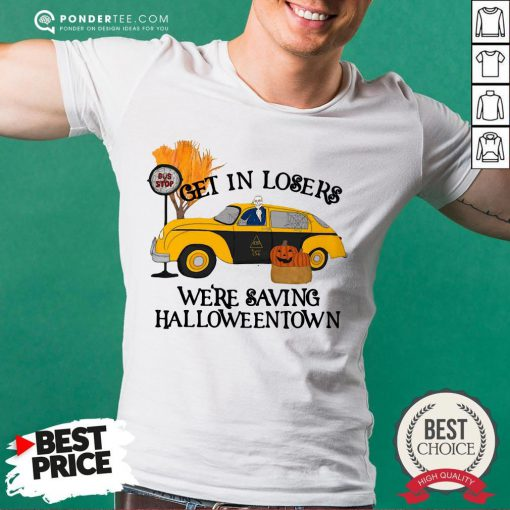 Original Benny Taxi Driver Get In Losers We're Saving Halloweentown Shirt - Desisn By Reallovetees.com