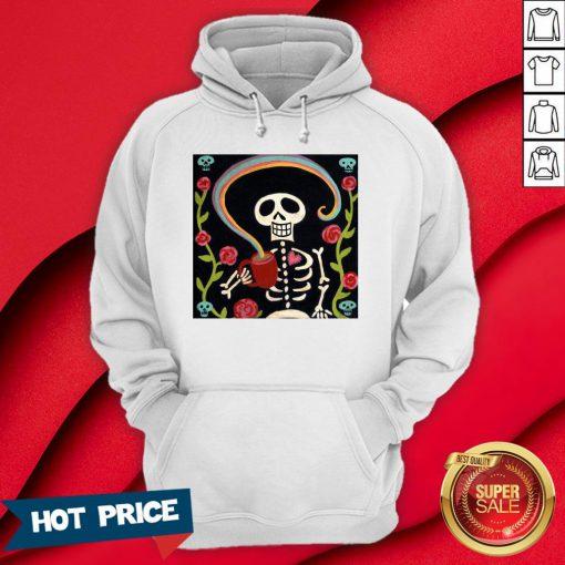 Rainbow Skelly Skeleton Halloween Hoodie