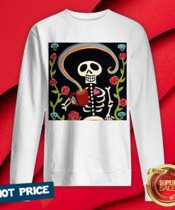 Rainbow Skelly Skeleton Halloween Sweatshirt