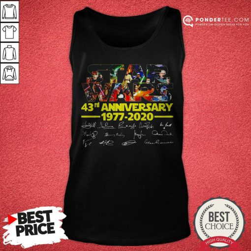 Star Wars 43rd Anniversary 1977 2020 Characters Signatures Tank Top - Desisn By Reallovetees.com