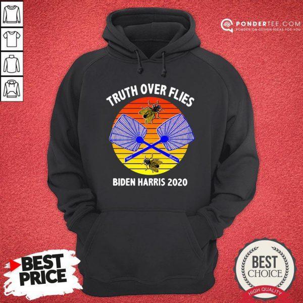 Truth Over Flies Biden Harris 2020 Vintage Hoodie - Desisn By Reallovetees.com