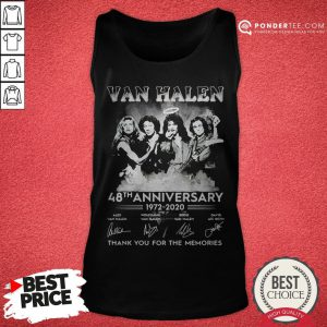 Van Halen 48th Anniversary 1972-2020 Thank You For The Memories Tank Top - Desisn By Reallovetees.com