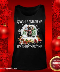 Cat Sparkle And Shine It's Christmas Time Tank Top - Design By Reallovetees.com
