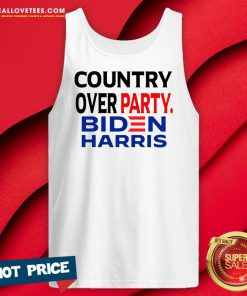 Cool Country Over Party Biden Black Red Blue Election Tank Top - Design By Reallovetees.com