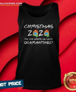 Cute 2020 Christmas Bear Wearing Face Mask Quarantined Xmas Tank Top - Design By Reallovetees.com
