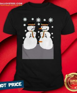 Cute 2020 Snowman Nose Thief Ugly Christmas Shirt - Design By Reallovetees.com