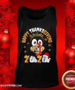 Happy Thanksgiving 2020 Toilet Paper Turkey Face Mask Quarantine Tank Top - Design By Reallovetees.com