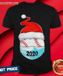 Cute Satan Baseball Face Mask 2020 Merry Christmas Shirt - Design By Reallovetees.com