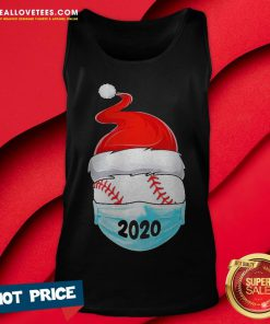 Cute Satan Baseball Face Mask 2020 Merry Christmas Tank Top - Design By Reallovetees.com