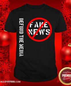 Defund The Media Fake News Shirt - Design By Reallovetees.com