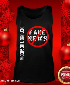 Defund The Media Fake News Tank Top - Design By Reallovetees.com