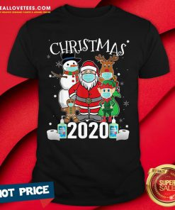 Funny Christmas Santa Claus and Friends Wearing Mask 2020 Shirt - Design By Reallovetees.com