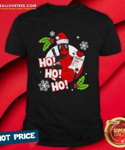 Funny Deadpool Ho Ho Ho Naughty List Merry Christmas Shirt - Design By Reallovetees.com