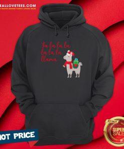 Funny Fa La La La La La La Llama Christmas Hoodie - Design By Reallovetees.com