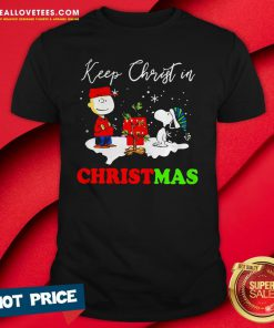 Good Snoopy And Charlie Brown Keep Christ In Christmas Shirt - Design By Reallovetees.com