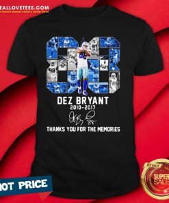 Great 80 Dez Bryant 2010 2017 Thank You For The Memories Signature Shirt - Design By Reallovetees.com