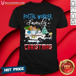 Hot Postal Worker Family Christmas Shirt - Design By Reallovetees.com