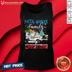 Hot Postal Worker Family Christmas Tank Top - Design By Reallovetees.com