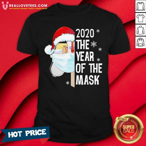 Nice Mailbox Santa 2020 The Years Of The Mask Christmas Shirt - Design By Reallovetees.com