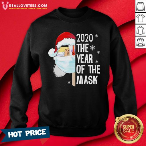 Nice Mailbox Santa 2020 The Years Of The Mask Christmas Sweatshirt - Design By Reallovetees.com