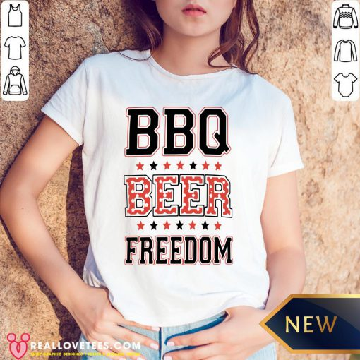 Perfect BBQ Beer Freedom V-neck - Design By Reallovetees.com
