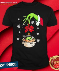 Perfect Grinch Hand Holding Ornament Baby Yoda Merry Christmas Shirt - Design By Reallovetees.com