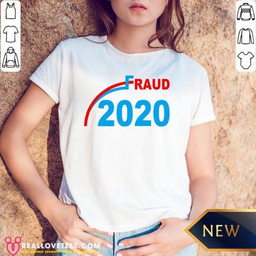Premium Election 2020 Fraud V-neck - Design By Reallovetees.com