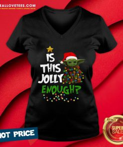Premium Is This Jolly Enough V-neck - Design By Reallovetees.com