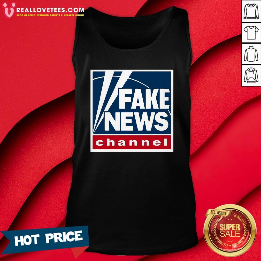 Pro Fake News Channel Tank Top - Design By Reallovetees.com