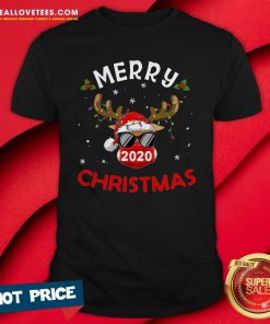 Pro Reindeer In Mask Shirt Funny Merry Christmas 2020 Shirt - Design By Reallovetees.com