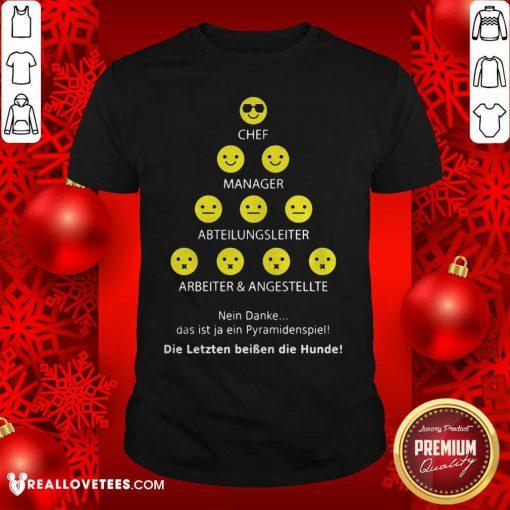 So Chef Manager Abteilungsleiter Arbeiter Und Angestellte Shirt - Design By Reallovetees.com