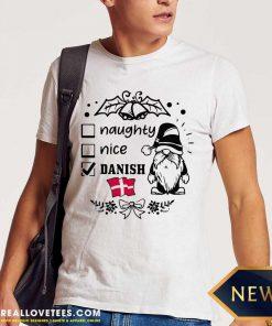 Naughty Danish Nice Gnome Merry Christmas Shirt - Design By Reallovetees.com