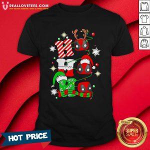Sweet Deadpool Ho Ho Ho Merry Christmas Shirt - Design By Reallovetees.com