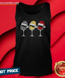 Sweet Plaid Wines Santa Claus Tank Top - Design By Reallovetees.com